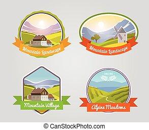 Mountain Landscape Label