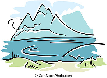mountain landscape - lakeside