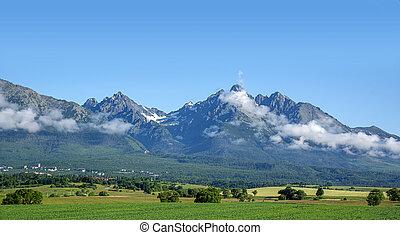 Mountain landscape. Landscape of the Slovak High Tatras.