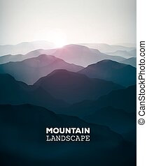 Mountain Landscape - Mountain background, landscape, eps 10