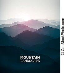 Mountain Landscape - Mountain background, landscape, eps 10