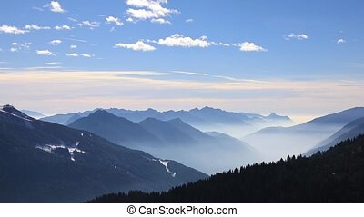 Mountain landscape of Dolomite Alps - Beautiful mountain...