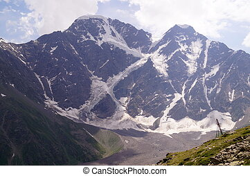 Mountain landscape on a sunny day