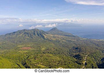 Mountain landscape on the island Camiguin, Philippines.