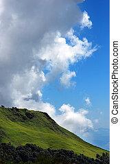 mountain landscape panoramic at himalayas nepal