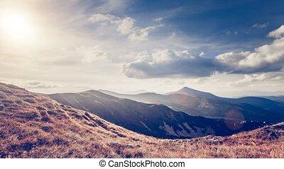 Mountain landscape. Slow motion 4K footage - Summer...