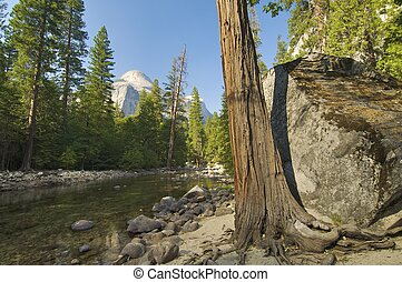 Mountain landscape in Yosemite national Park, Usa