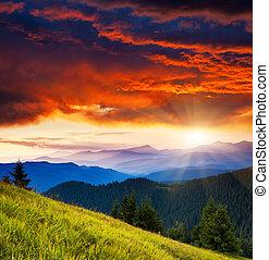 mountain landscape - Majestic morning mountain landscape...