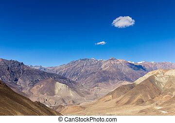 mountain landscape, the Himalayas, Lower Mustang, Nepal.