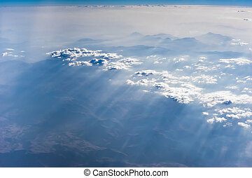 Mountain landscape under blue sky