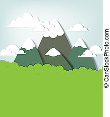 Mountain landscape. Vector applique - Mountain landscape....