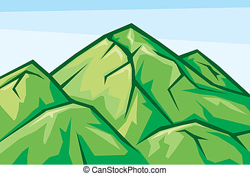 mountain landscape - vector illustration of mountain...