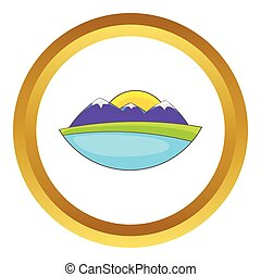 Mountain landscape vector icon