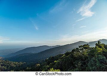Mountain landscape with cloud sky