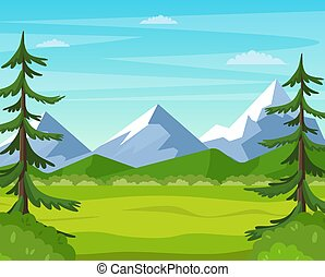 Mountain landscape with summer forest