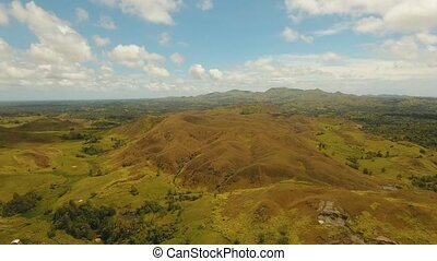 Mountain landscape with valley Bohol, Philippines - aerial...
