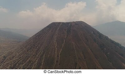 mountain landscape with volcano and mountains Tengger Semeru...