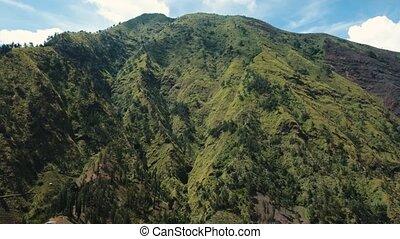 Mountain landscape.Jawa island, Indonesia. - Aerial view...