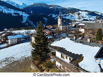 Mountain Liesing village in Lesachtal (Austria).