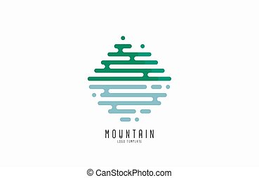 Mountain line logo. Beautiful logo. Creative logo. Line logo design.