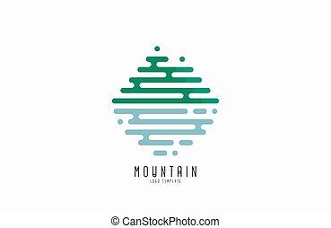 Mountain line logo. Beautiful logo. Creative logo. Line logo design.