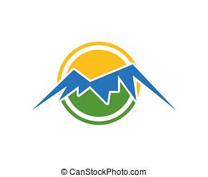 mountain logo template