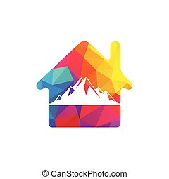 Mountain logo vector.