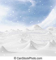 mountain., neigeux