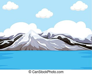 Mountain next to the water