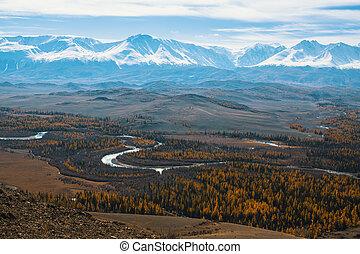 Mountain North-Chuya ridge of Altai Republic, Russia.