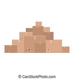 Mountain of boxes