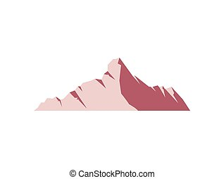mountain on white background
