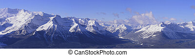 Mountain Panaramic - Panoramic of the rocky mountains in...
