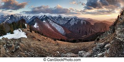Mountain panorama, Beautiful mountain landscape.