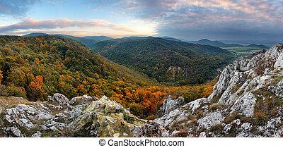 Mountain panorama in Slovakia - Small Carpathian