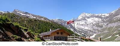 Mountain panorama in the Oetztal Alps