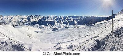 mountain panorama in winter