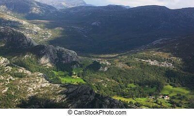 Mountain panorama - Norway mountain panorama.