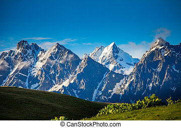 Mountain panorama summer landscape. Georgia
