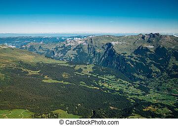 Mountain panoramic view of Jungfrau in Switzerland