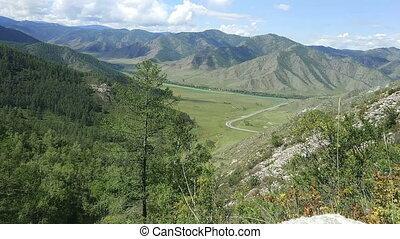Mountain pass Chike-Taman in Altai, Siberia, Russia