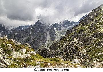 Mountain pass in the High Tatras