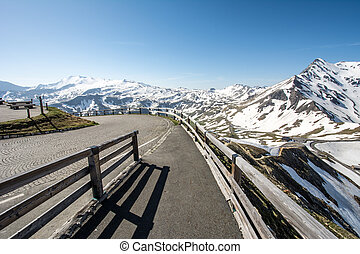 High Alpine Road - Mountain pass of the Grossglockner High...