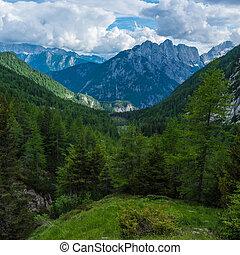 pass Vrsic - Mountain pass Vrsic, Slovenia,Triglav Natonal...