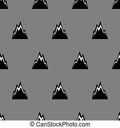 Mountain pattern seamless. Rocks background. Black rock ornament