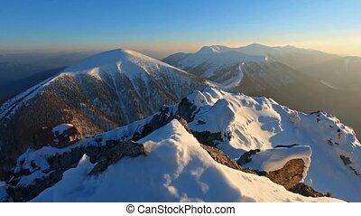 Mountain peak at winter - Roszutec
