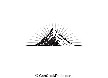 Illustration of a mountain peak silhouette