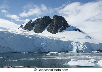 Mountain peak in Antarctica.