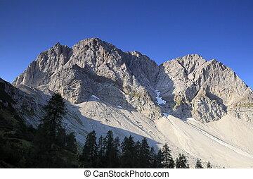 mountain peak in austria