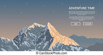 mountain peak landscape